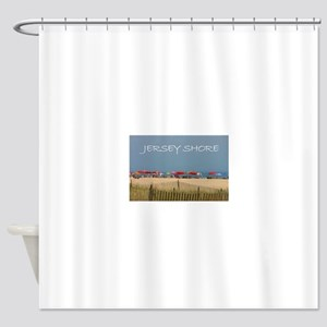 Jersey Shore Beach Umbrellas Shower Curtain
