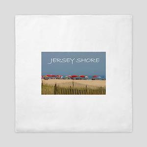 Jersey Shore Beach Umbrellas Queen Duvet