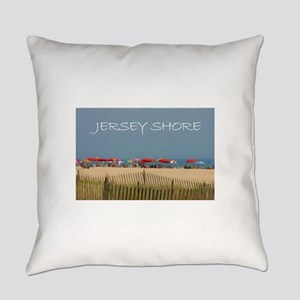 Jersey Shore Beach Umbrellas Everyday Pillow