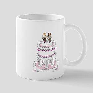 Two brides on a cake. Mug