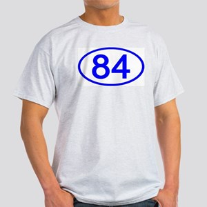 Number 84 Oval Ash Grey T-Shirt