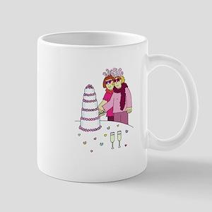 Lesbian wedding. Mug