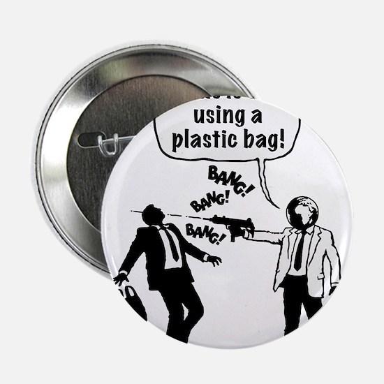 "Cartoon: Anti-Plastic Waste Activist 2.25"" Button"