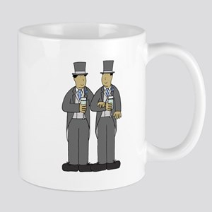 Asian grooms in Blue. Mug