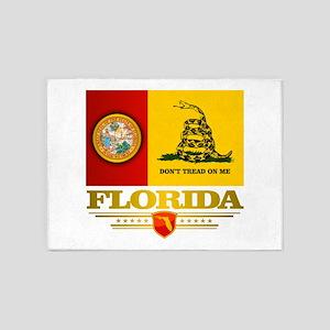 Florida Gadsden Flag 5'x7'Area Rug