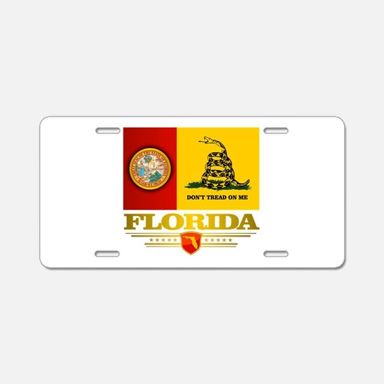 Florida Gadsden Flag Aluminum License Plate