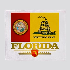Florida Gadsden Flag Throw Blanket