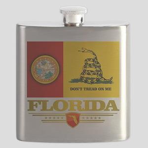 Florida Gadsden Flag Flask