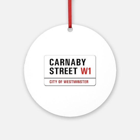 Carnaby Street, London - UK Ornament (Round)