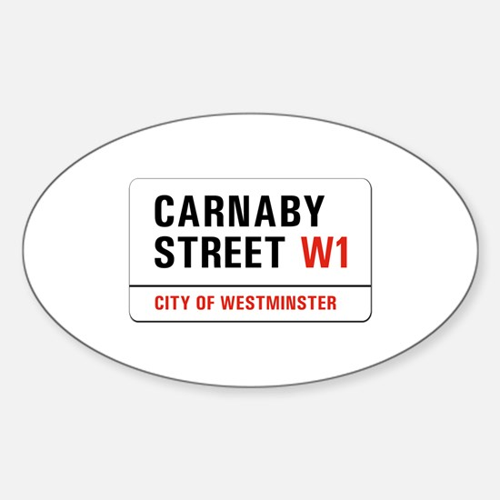 Carnaby Street, London - UK Oval Decal
