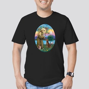 StFrancis-Choc Lab Men's Fitted T-Shirt (dark)