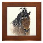 Chestnut Horse Framed Tile