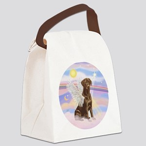 Chocolate Lab Angel Canvas Lunch Bag