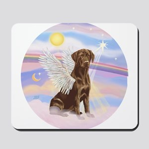 Chocolate Lab Angel Mousepad