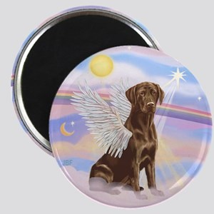 Chocolate Lab Angel Magnet