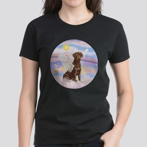Chocolate Lab Angel Women's Dark T-Shirt