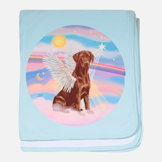 Chocolate Lab Angel baby blanket