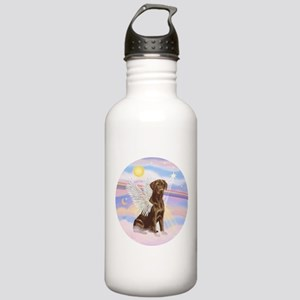 Chocolate Lab Angel Stainless Water Bottle 1.0L
