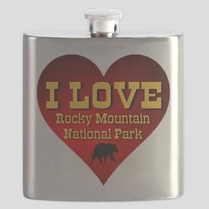 I Love Rocky Mountain National Park Flask