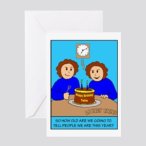 Looney Twins How Old Greeting Card