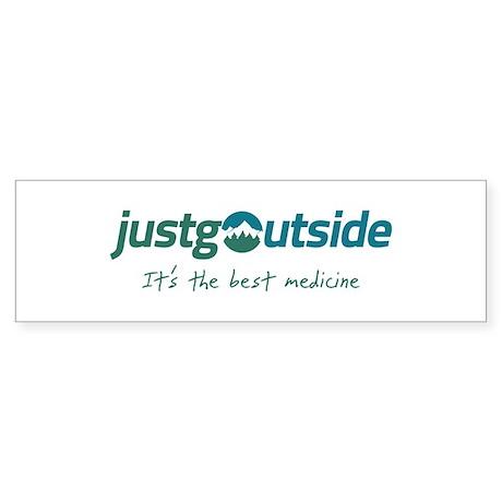 justgoutside slogan Bumper Sticker