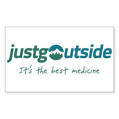 justgoutside slogan Sticker