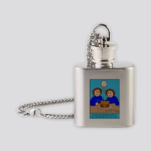 Looney Twins How Old Flask Necklace