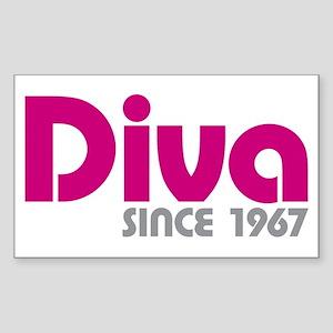 Diva Since 1967 Sticker (Rectangle)