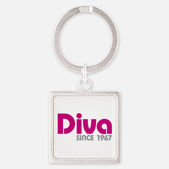 Diva Since 1967 Square Keychain