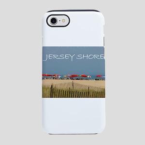 Jersey Shore Beach Umbrellas iPhone 7 Tough Case