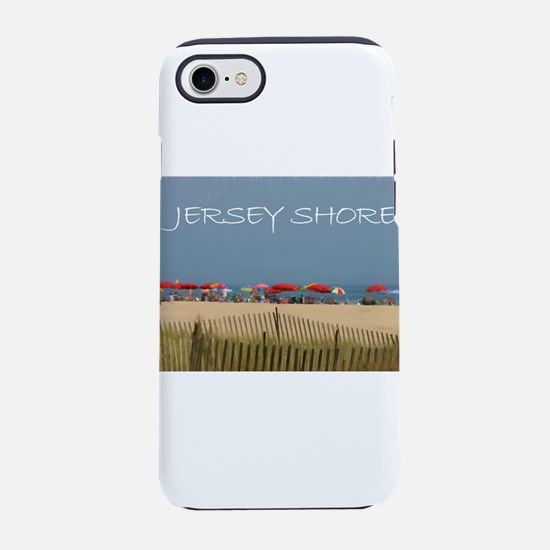 Jersey Shore Beach Umbrellas iPhone 7 Tough Case