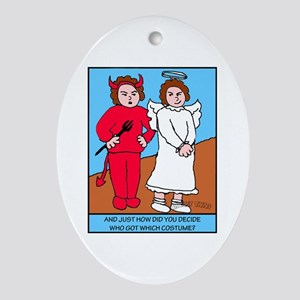 Looney Twins Good and Evil Ornament (Oval)