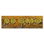 No GMO Crop Circle on Van Gogh Bumper Sticker