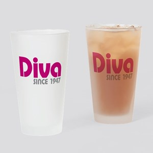 Diva Since 1947 Drinking Glass