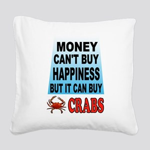 CRABS Square Canvas Pillow