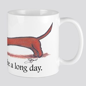 Long Day Dachshund T-Shirt Mug