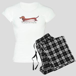 Long Day Dachshund T-Shirt Pajamas
