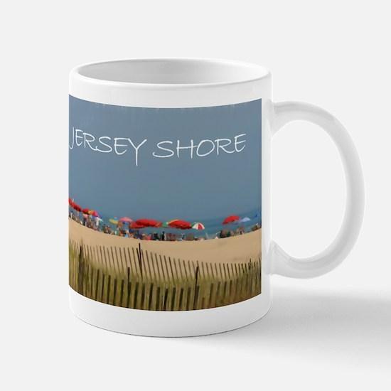 Jersey Shore Beach Umbrellas Mugs