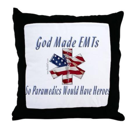 God Made EMTs Throw Pillow