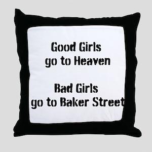 Sherlock Bad Girl Throw Pillow