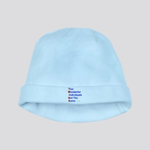 Looney Twins T-W-I-N-S baby hat