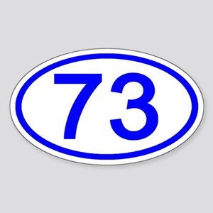 Number 73 Oval Oval Sticker