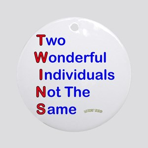 Looney Twins T-W-I-N-S Ornament (Round)