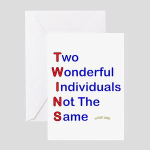 Looney Twins T-W-I-N-S Greeting Card