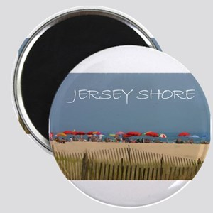 Jersey Shore Beach Umbrellas Magnets