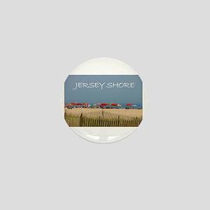 Jersey Shore Beach Umbrellas Mini Button