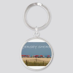 Jersey Shore Beach Umbrellas Keychains