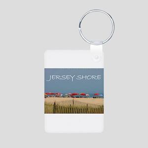 Jersey Shore Beach Umbrellas Keychains