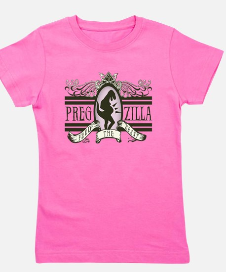 pregzilla-lights.png Girl's Tee