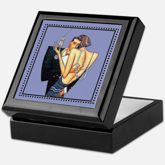 Art Deco Couple Keepsake Box